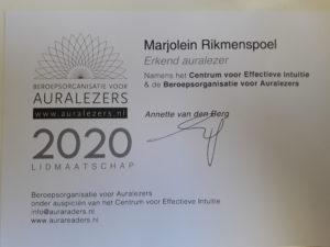 certificaat 2020 readen